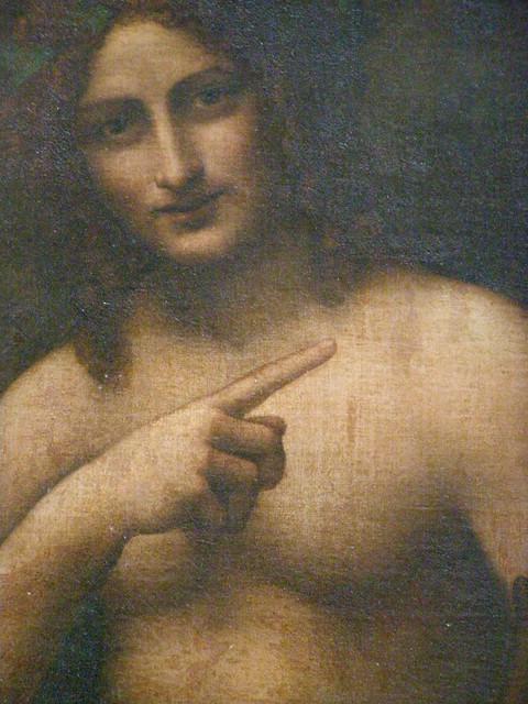 Workshop of Leonardo da Vinci  St John the Baptist or Bacchus  c 1510    Bacchus Da Vinci