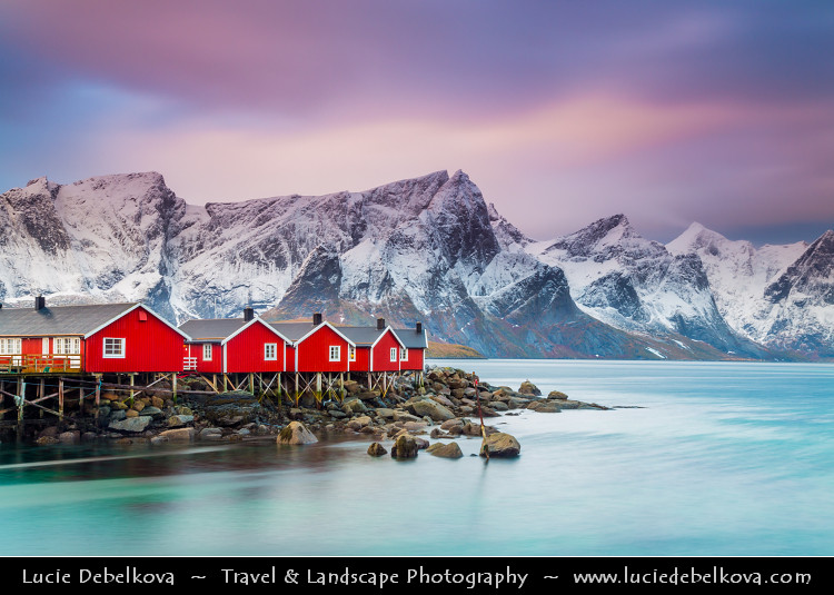 Norway North Of The Arctic Circle Lofoten Island Mos