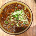La mian with minced meat and mushroom sauce