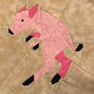 Fantastic Beast QAL Week 6 - Nogtail #fbqal #fandominstiches