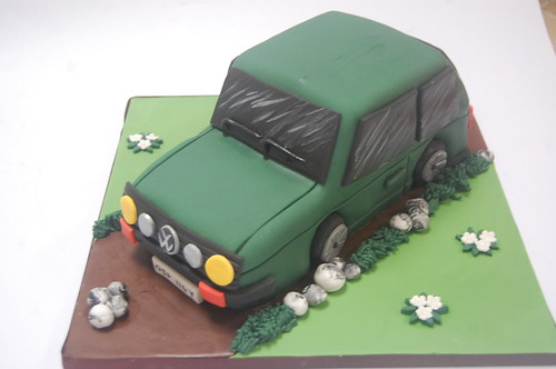 An edible version of an iconic car! The VW Golf GTI Mark 1 cake - from £80.