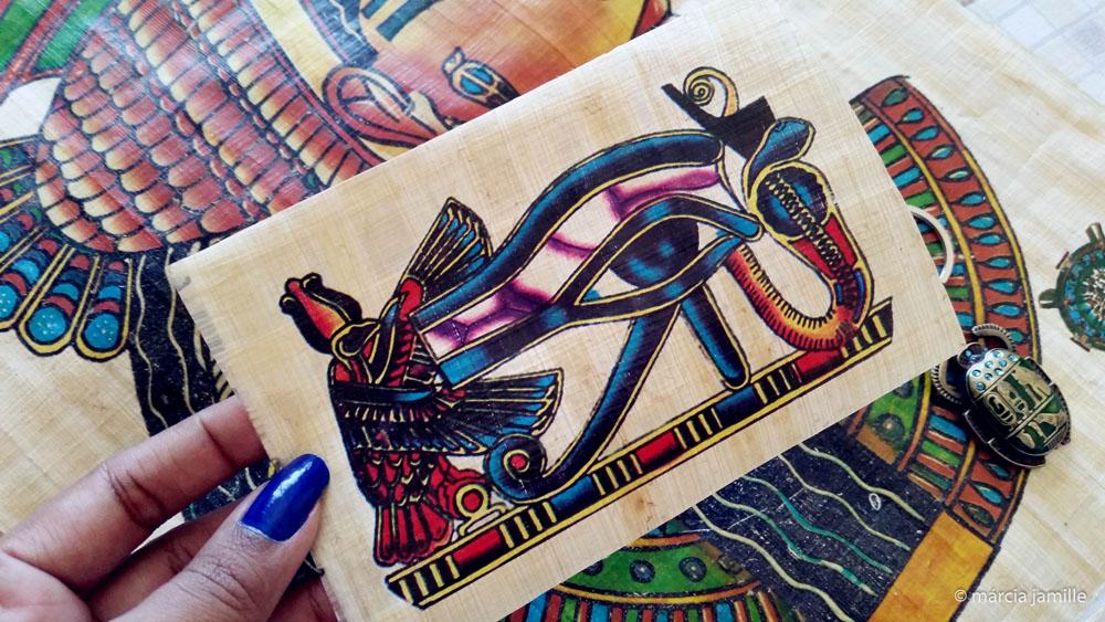Ganhei réplicas de papiros egípcios!