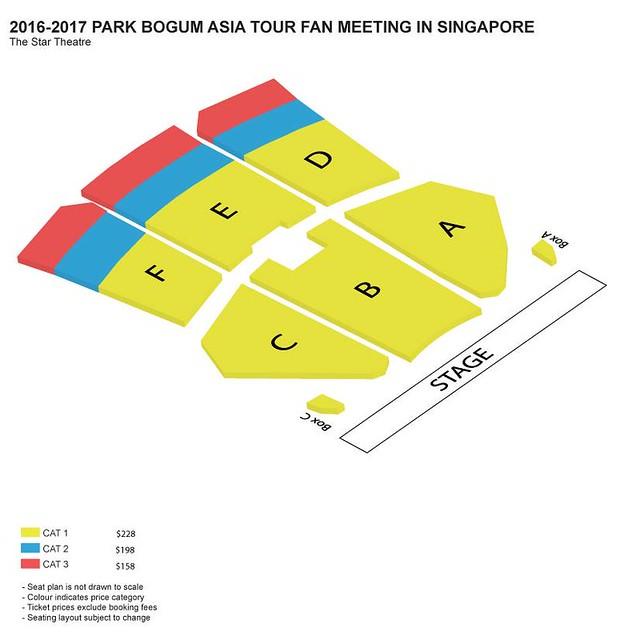Park Bogum Asia Tour Fan Meeting in Singapore Seating Plan