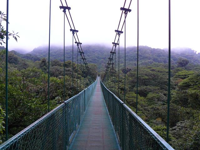 Puente colgante en Monteverde (Costa Rica)