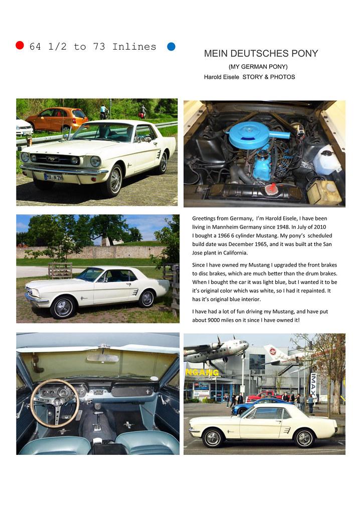 """Unser Oldtimer, ein Sechszylinder Ford Mustang 1966, wurde im US-Online-Magazin """"THE SIX BANGER"""" (Ausgabe November 2016) vorgestellt - mit meinen Fotos!Unser Oldtimer, ein Sechszylinder Ford Mustang 1966, wurde im US-Online-Magazin """"THE SIX BANGER"""" (Ausgabe November 2016) vorgestellt - mit meinen Fotos!"""