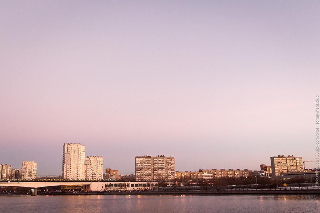 Вечер на Москве-реке в Нагатинском затоне