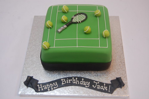 Very simple but surprisingly effective! The Simple Tennis Cake - from £45.
