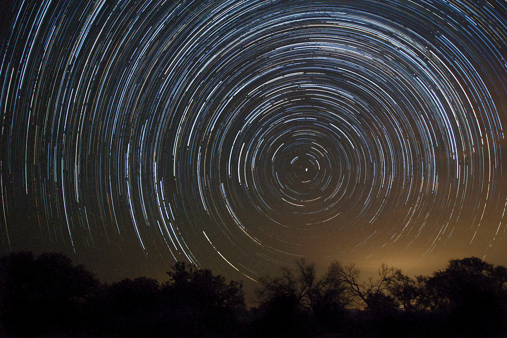 Star Trails While Watching Perseid Meteor Shower Photo