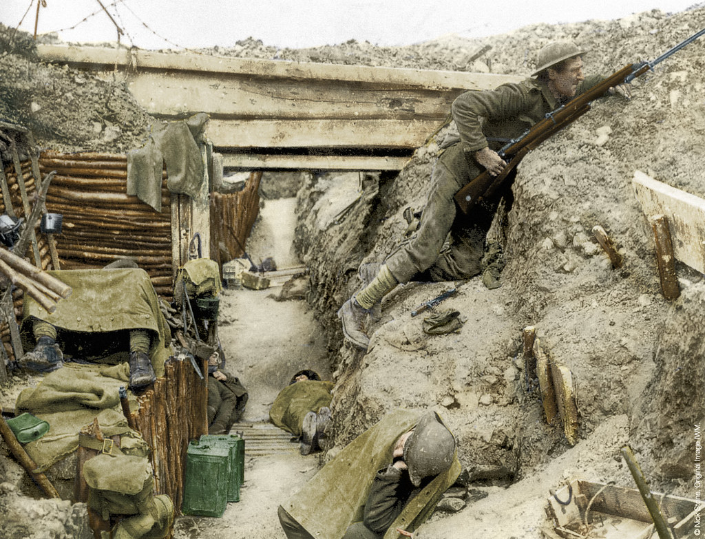 Ww1 In Colour Cheshire Regiment In Captured Trench Flickr