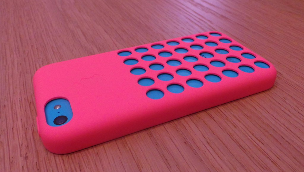 Iphone 5c Blue Wth Pink