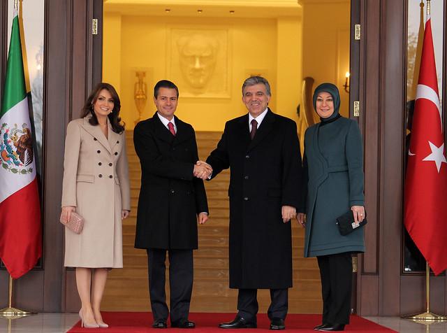 Ceremonia Oficial de Bienvenida, Palacio Presidencial Cankaya.