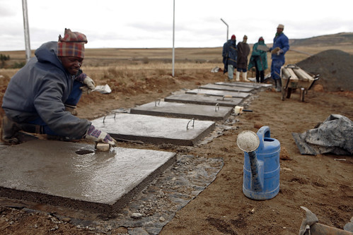 Lesotho - Metolong Dam Toilets&Brick Making - John Hogg - 090625 (2)F | by World Bank Photo Collection