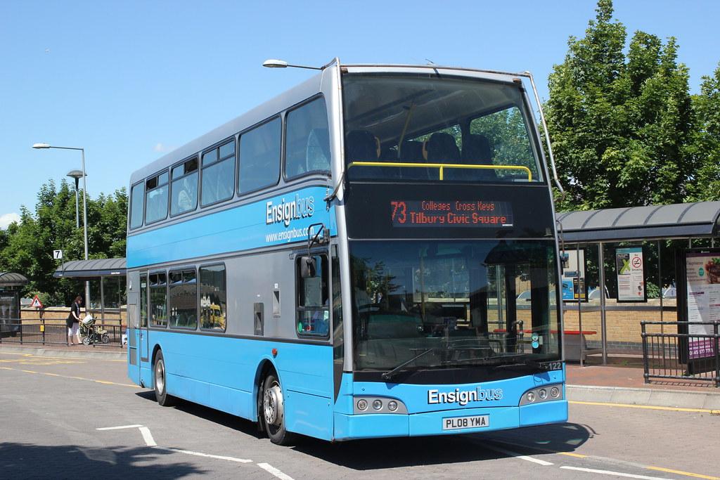Ensign Bus Co Purfleet Essex 122 Pl08yma Grays Bus