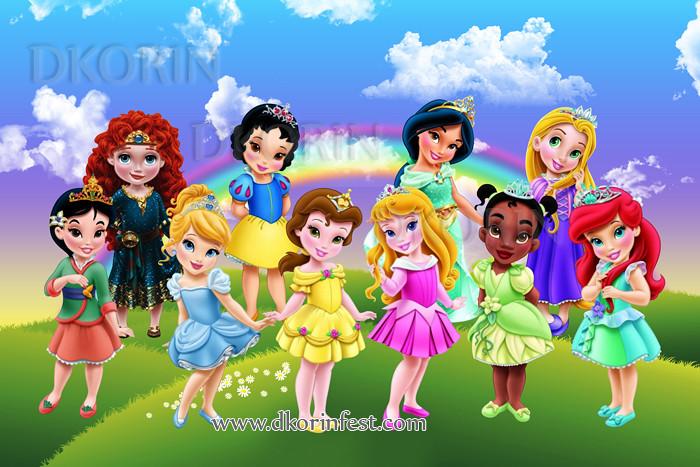 painel festa infantil banner princesas disney baby 31