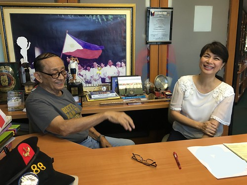 LOL with President Fidel V. Ramos