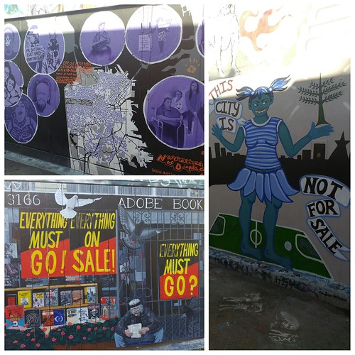 Murals on Clarion Alley, making a statement about San Francisco.