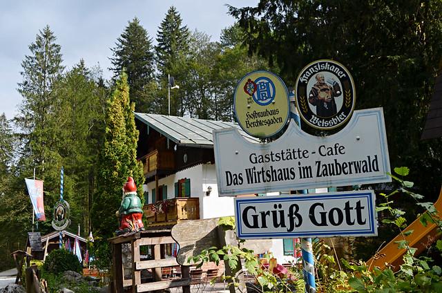 Gnomes' biergarten, Ramsau, Bavaria