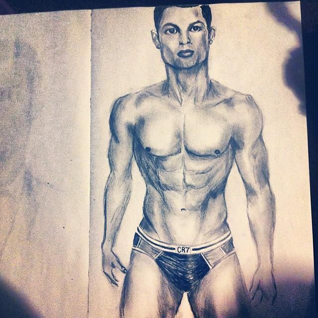 cristiano ronaldo cr7 underwear drawing sexy hot d
