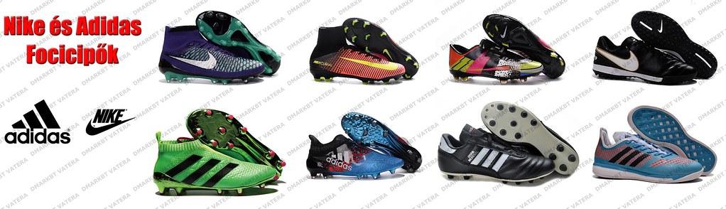 Adidas és Nike Focicipők