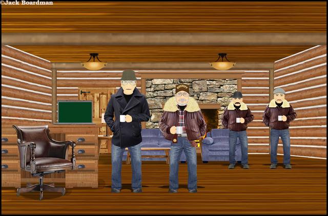 In the Farenholt cabin ©Jack Boardman