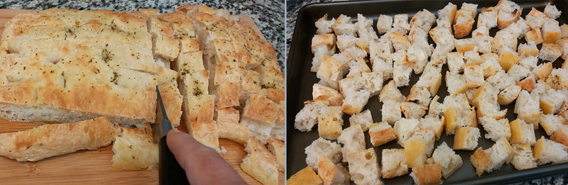 Slicing Focaccia Bread