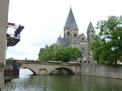 At river Moselle in Metz