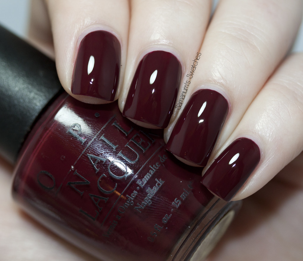 Wine Colored Nail Polish: Opi Vampire State Building