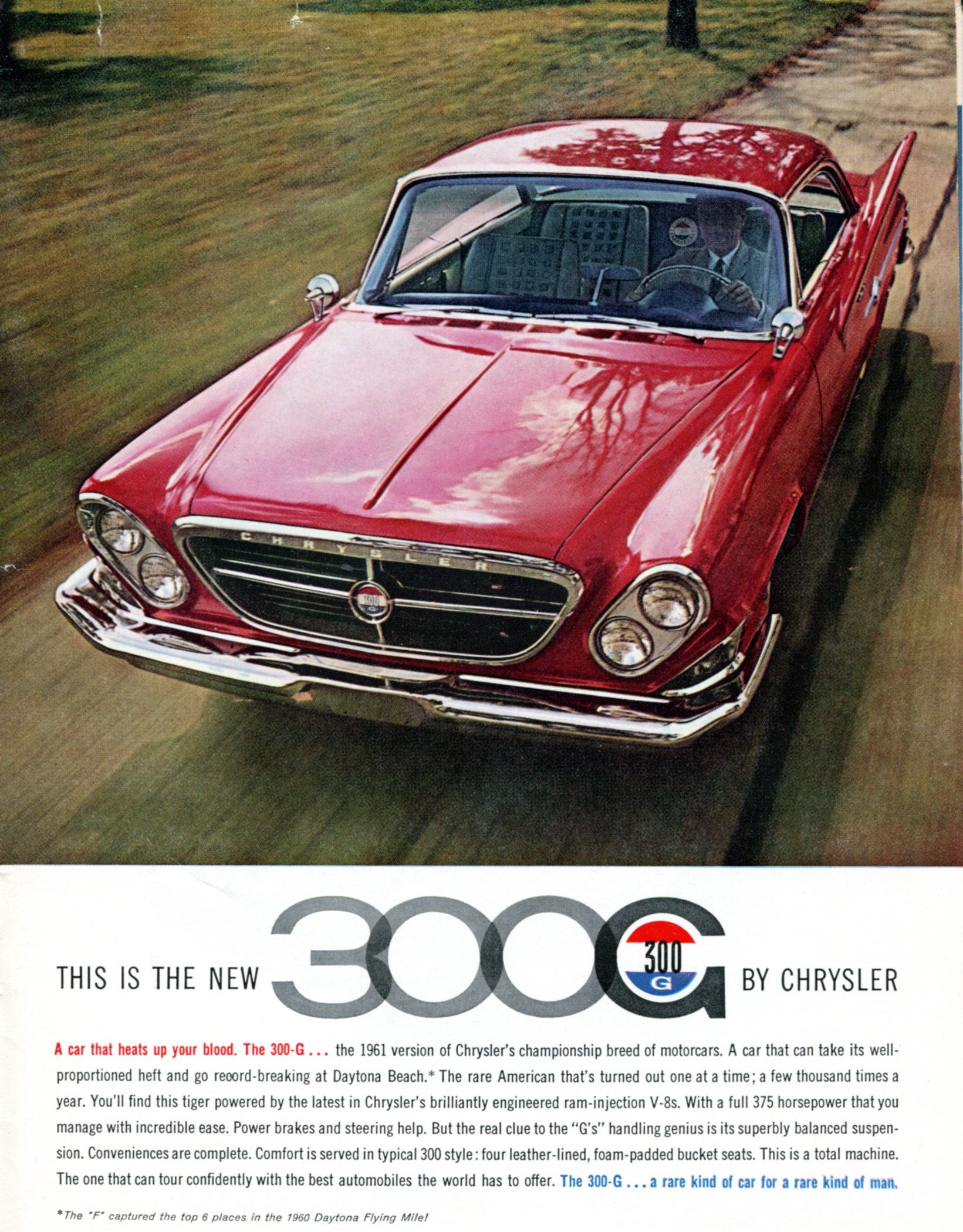 1961 Chrysler 300G - published in Sports Cars Illustrated - January 1961