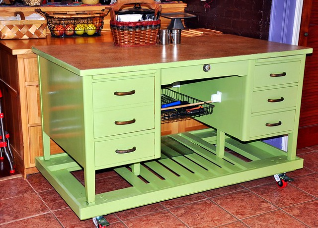Old Desk Made Into A Kitchen Island Flickr Photo Sharing