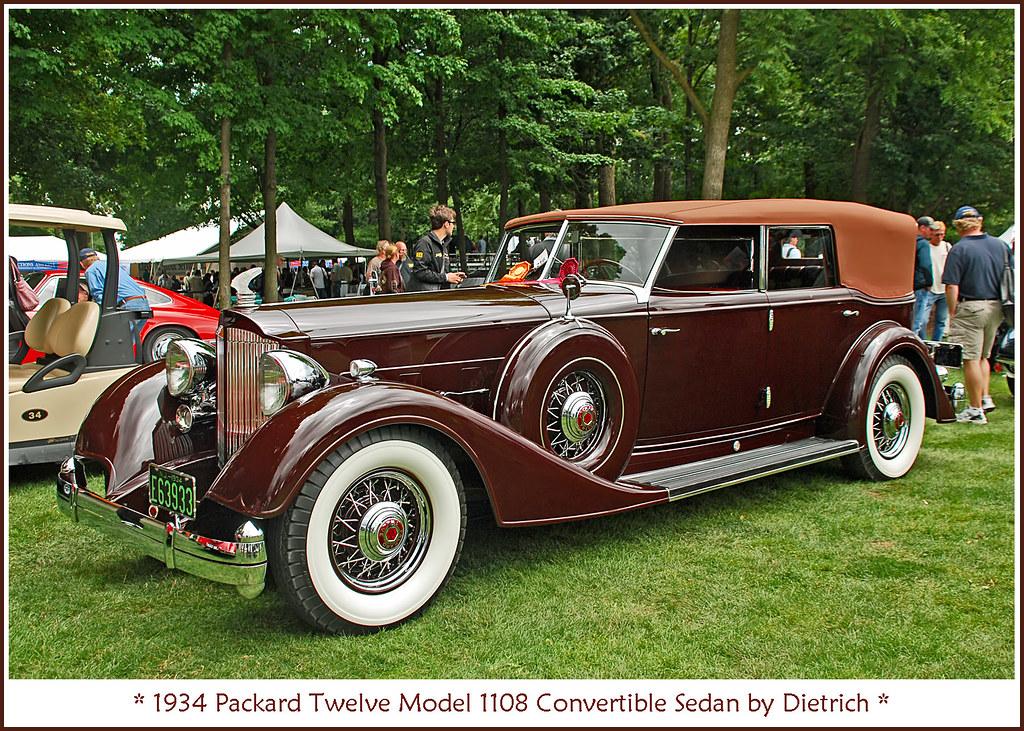 1934 Packard Twelve Convertible Sedan All Of My Classic