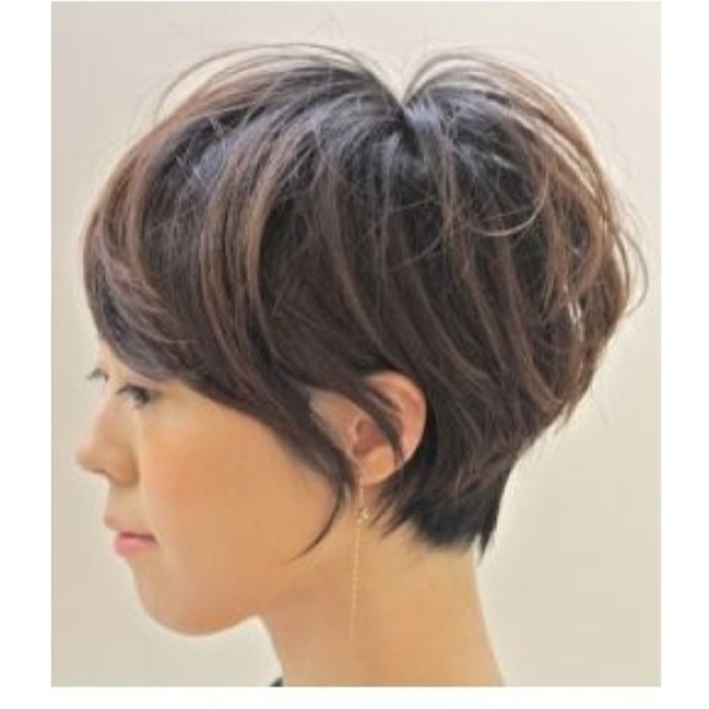 Just love it Long Pixie cut with subtle highlights long…