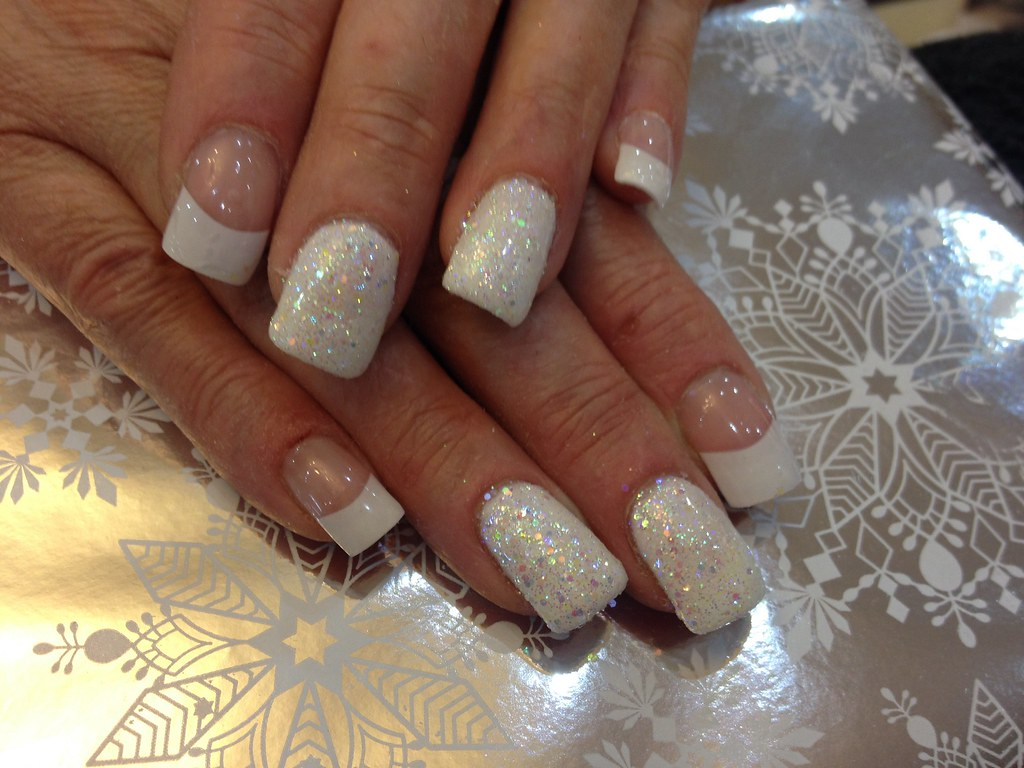 Square White Tip Nails Nails With White Tips And