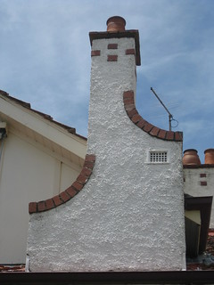 The Stylised Chimney of a Federation Queen Anne Stuccoed Brick Villa - Ballarat