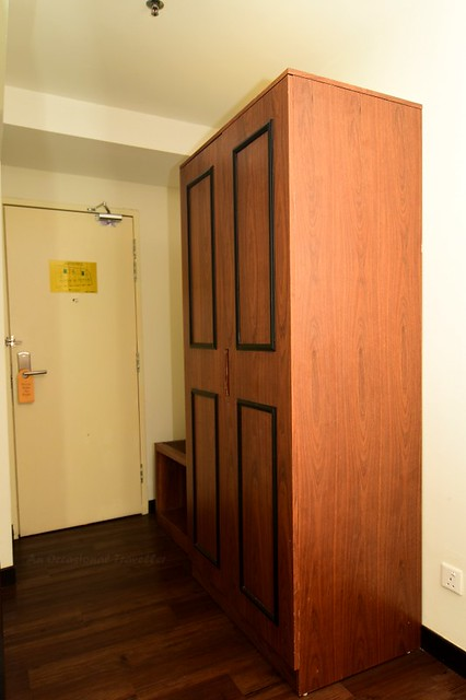 Room comes with a big wardrobe with a safe box inside