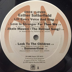 ESTHER SATTERFIELD:ONCE I LOVED(LABEL SIDE-A)