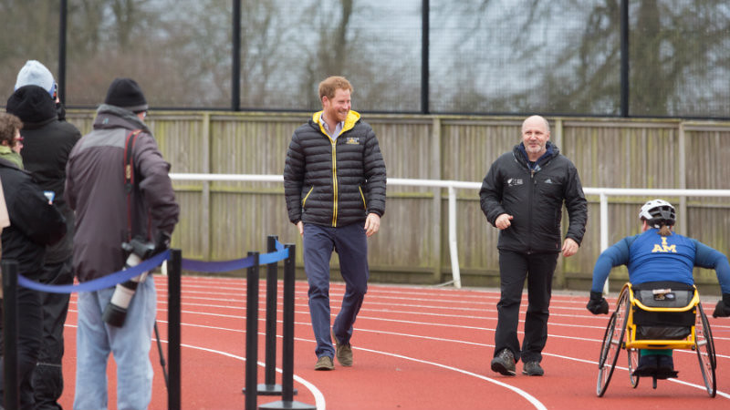 HRH Prince Harry at UK Team Trials for 2016 Invictus Games