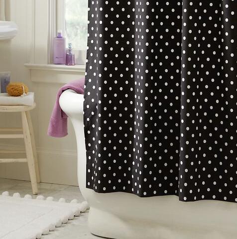 polka dot shower curtain ashley flickr. Black Bedroom Furniture Sets. Home Design Ideas