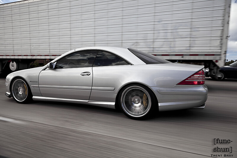 Mercedes Benz Cl55 Amg Rolling Shot On The Freeway In