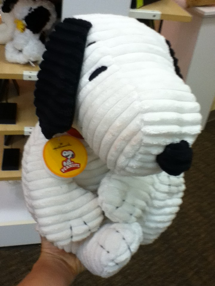 Large plush corduroy snoopy at amy 39 s hallmark the villag Amys hallmark
