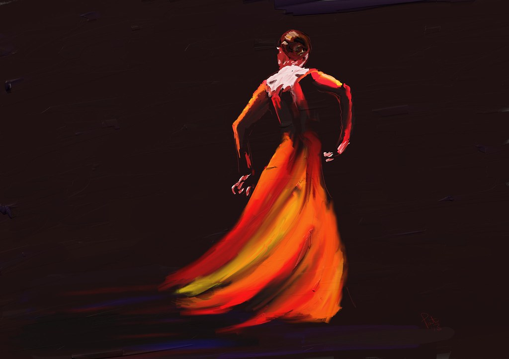 Red Flamenco   Thank you Luna for allowing me to use your im ...