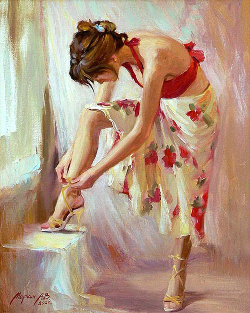 Russian Paintings Of Women Andrei Markin  ...