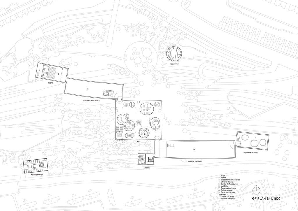 Sanaa Louvre Lens Museum Drawings 02 Gf Plan 平面圖 Jpg