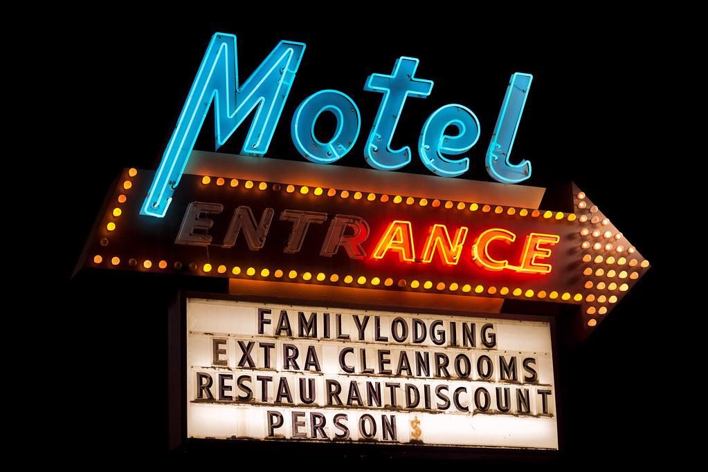 motel entrance the dalles oregon curtis perry flickr. Black Bedroom Furniture Sets. Home Design Ideas
