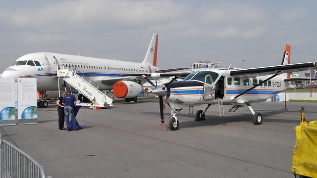 DLR Airbus A320 und Cessna 208