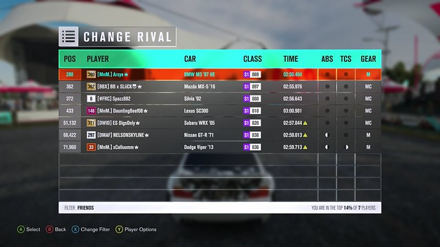 (FH3) RWD/FWD Restricted Reservoir Trail Attack (Results Up) 22822727348_c65c334551_z