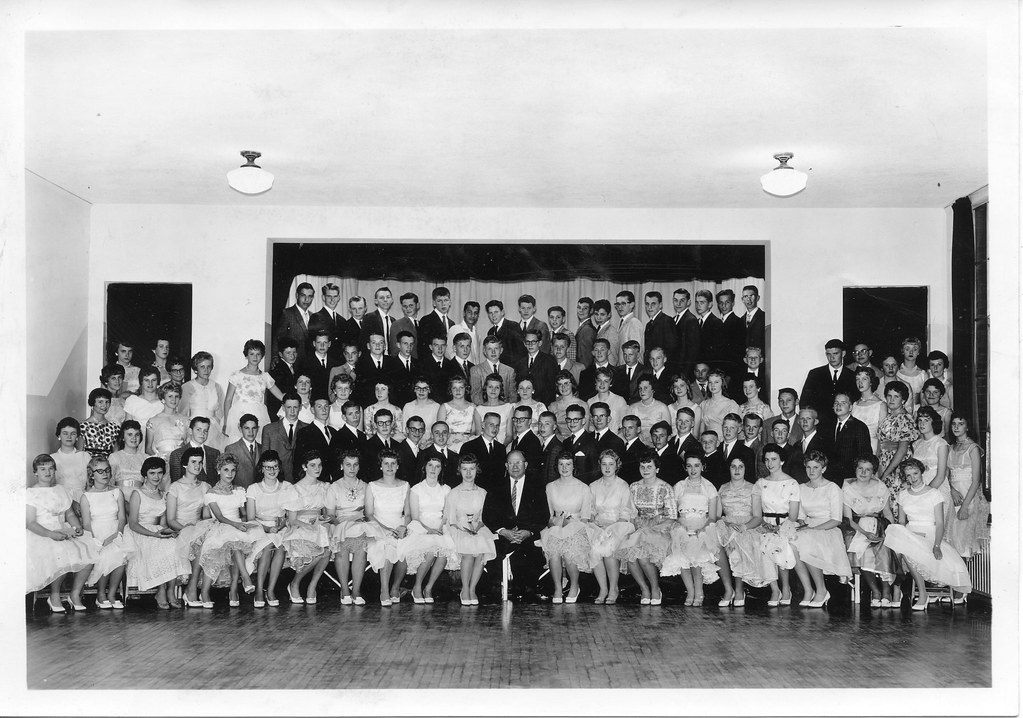 Payson junior high promotees may 26 1960 first row bets