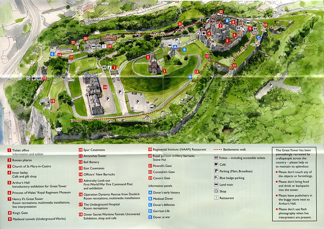 Dover Castle Map  Flickr  Photo Sharing