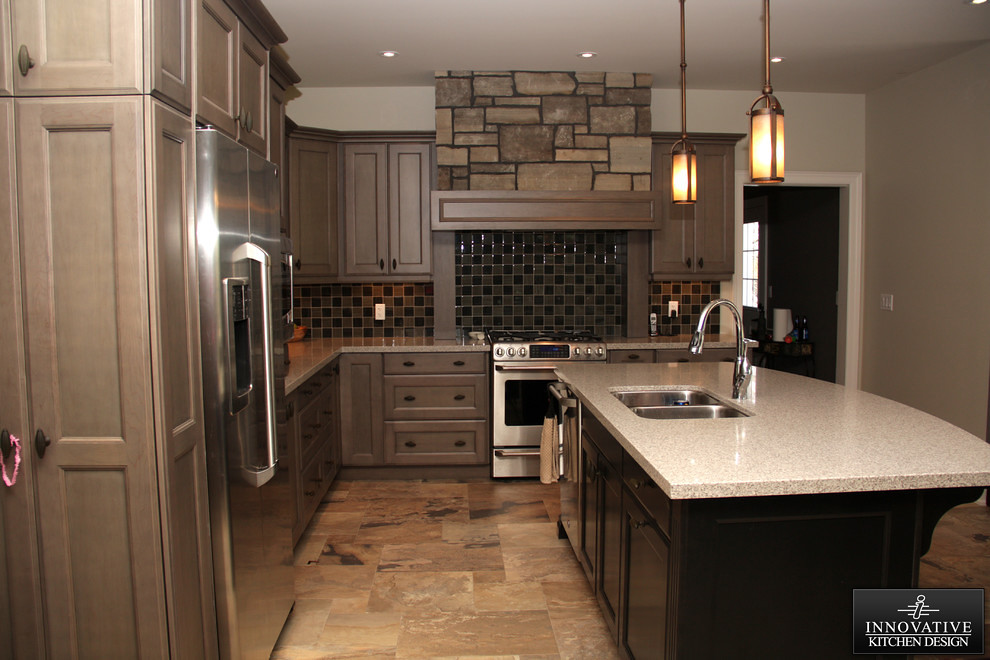 Rustic Craftsman Kitchen | Check out these two different rus