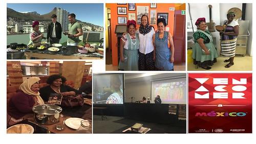 """Promoción en Sudáfrica de """"Ven a Comer"""" con la cocinera tradicional Abigail Mendoza"""