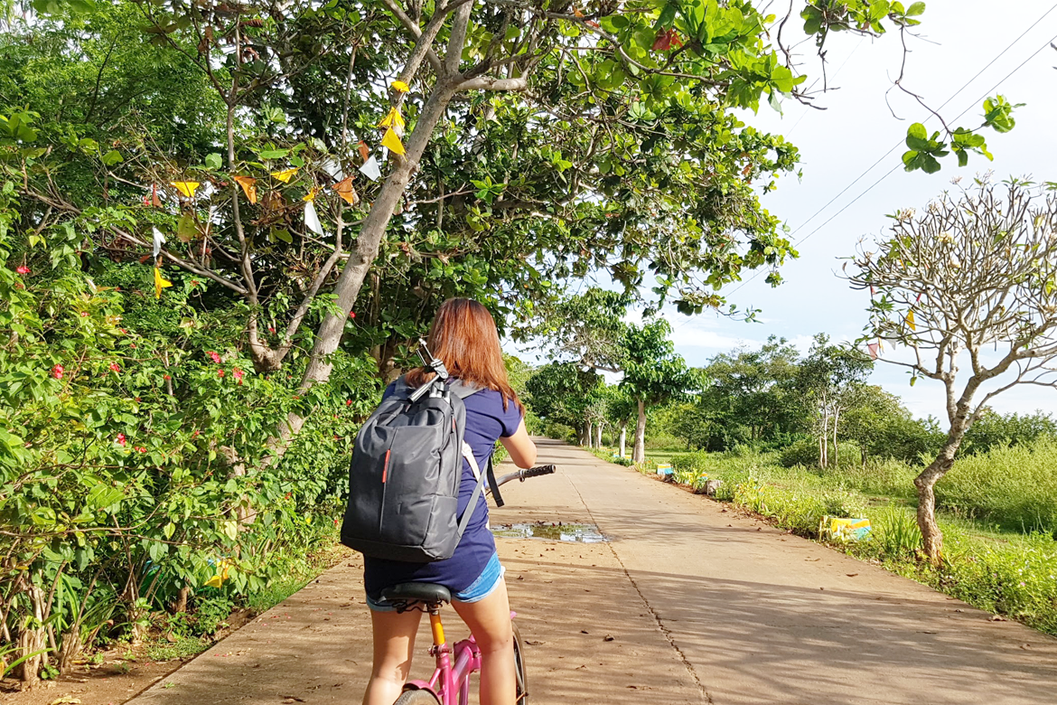 Biking in Olango Island